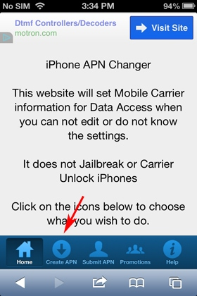 how to set apn on iphone