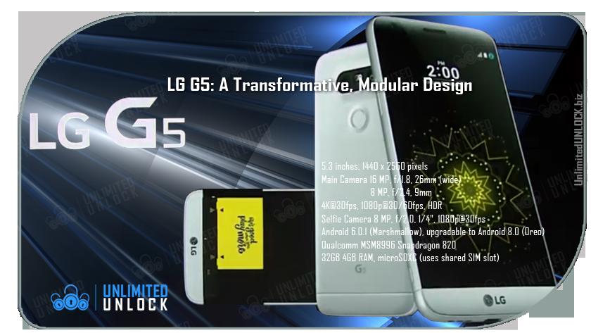 Factory Unlock LG G5 via IMEI Code or Remote USB