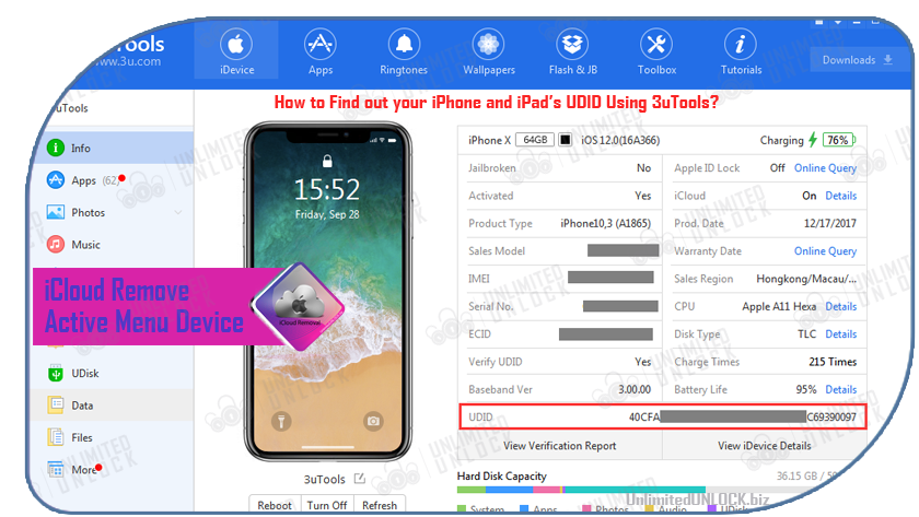 How to remove the iCloud account from Active Menu iPhone / iPad