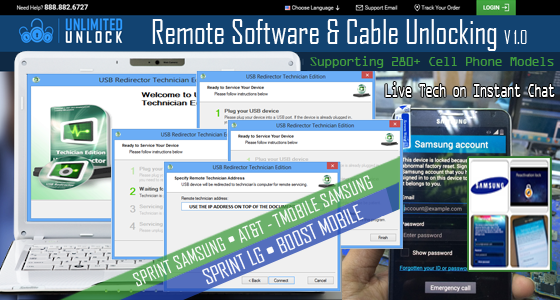 Remote Software & Cable USB Carrier Unlock Supporting 280+ Models