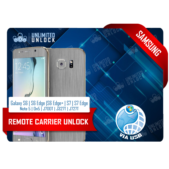 T-Mobile and Metro Samsung Galaxy S6 | S6 Edge |S6 Edge+ | S7 | S7 Edge | S8 | S8+ | Note 5| On5 | J700T | J327T | J727T Remote USB Carrier Unlock