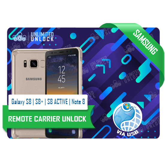 Samsung Galaxy S8 | S8+ | S8 ACTIVE | Note 8 Remote USB Carrier Unlock Update
