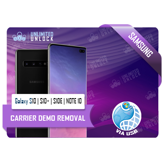 Samsung Galaxy S10 | S10+ | S10E | NOTE 10 Remote USB Demo Removal