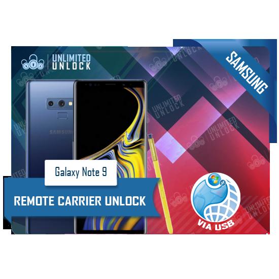 Samsung Galaxy Note9 Remote USB Carrier Unlock