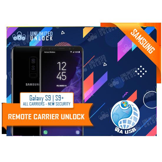 Samsung Galaxy S9, S9+, G960U/U1, G965U/U1 New Security Remote USB Carrier Unlock